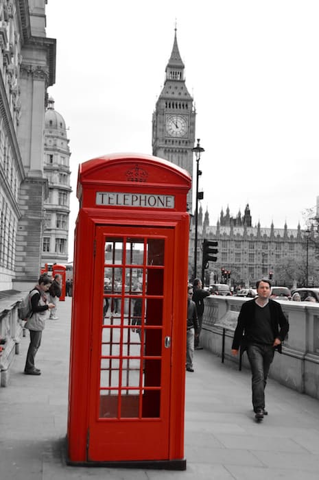 London Phone Booth and Big Ben