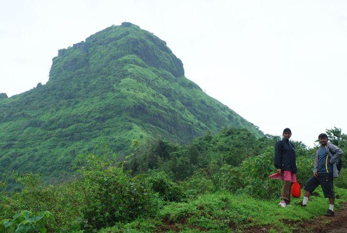 Trekking Tikona in Western India
