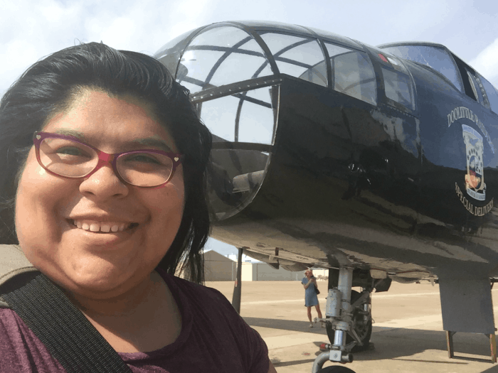 Flying a B-25 bomber from Galveston to Houston