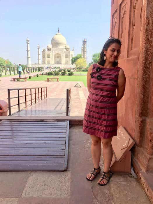 Shivani at the Taj Mahal, India