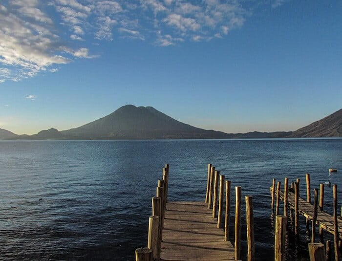 Lake Atitlan morning view